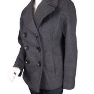Michael Kors Charcoal Wool Blend Peacoat XL